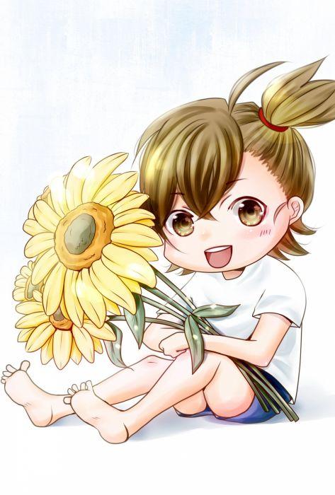 flower chibi cute kawaii anime wallpaper
