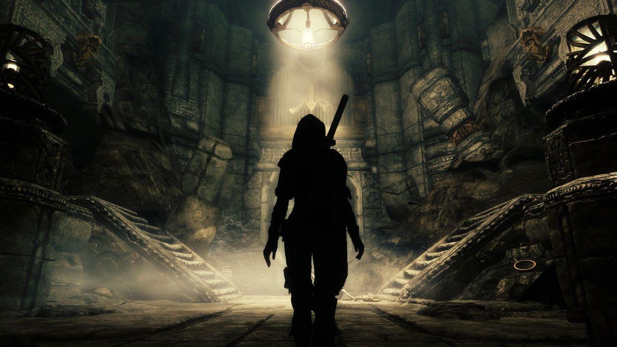 SKYRIN - cave-silhouette-light wallpaper