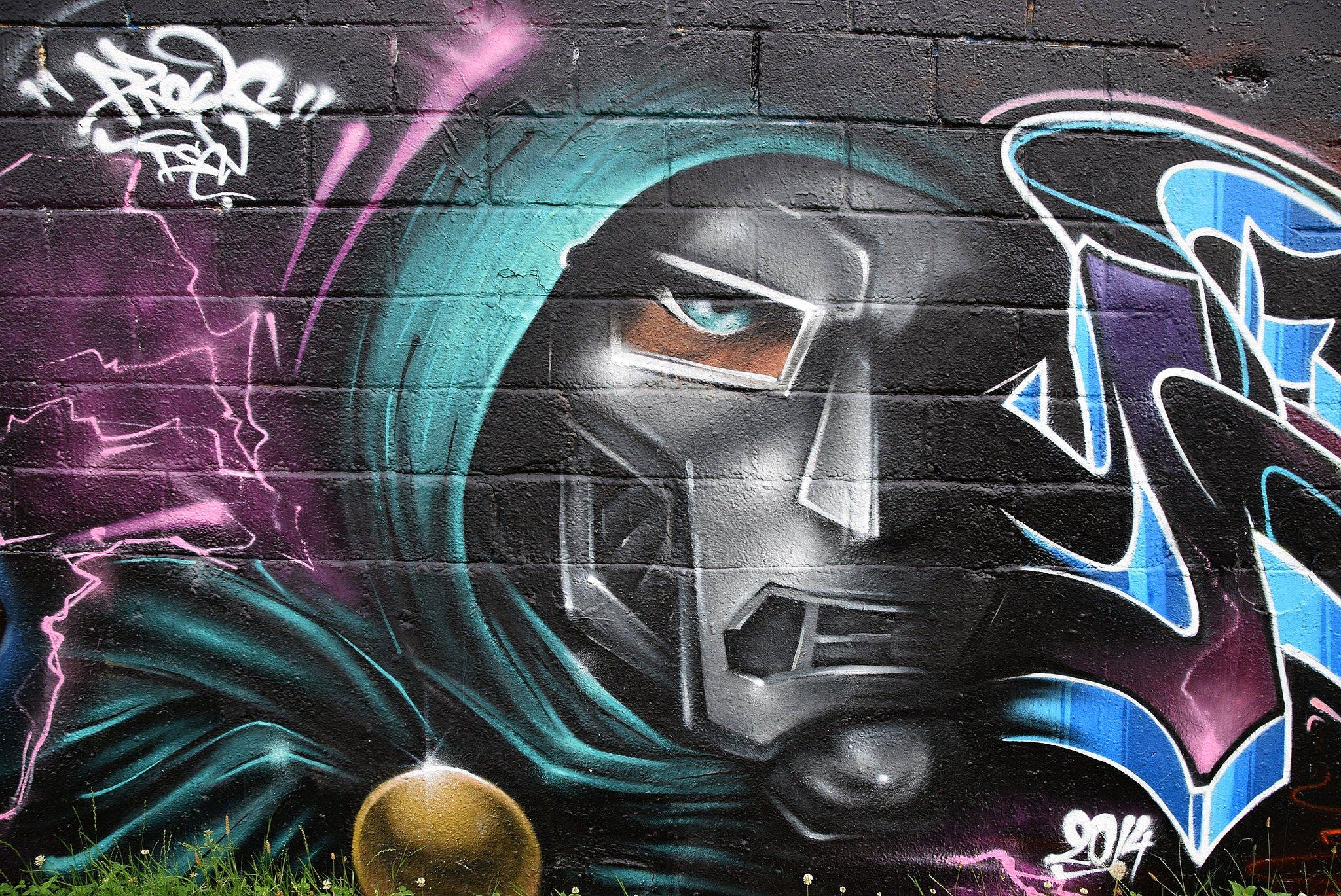 Art color Graffiti paint psychedelic Urban wall rue tag ...