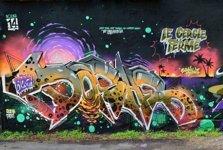 art color Graffiti paint psychedelic Urban wall rue tag peinture wallpaper