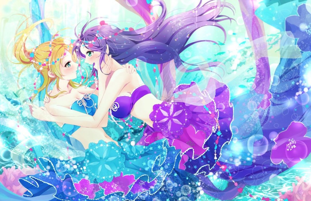 arihara (arhr) ayase eri love live! school idol project toujou nozomi wallpaper