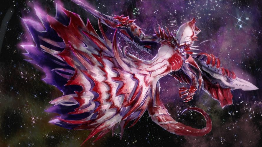 blood chikokuma shiraui tsumugi sidonia no kishi space stars wallpaper