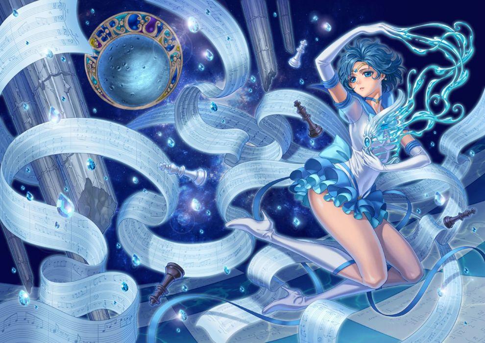eclosion mizuno ami sailor moon wallpaper