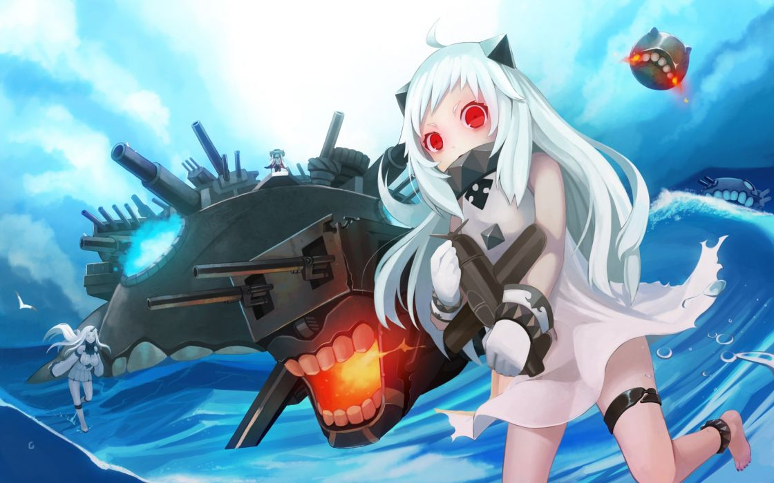 elrowa kantai collection northern ocean hime seaport hime wo-class (kancolle) wallpaper