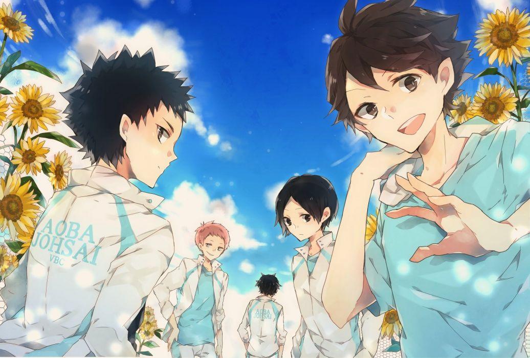 Haikyuu!! Kunimi Akira Iwaizumi Hajime Ooikawa Tooru Yellow Flower wallpaper