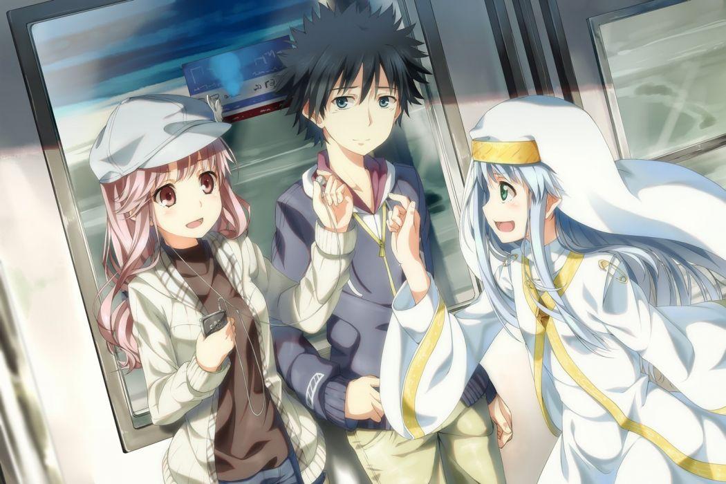 index kamijou touma meigo arisa nun to aru majutsu no index train yuuri (asterisk) wallpaper