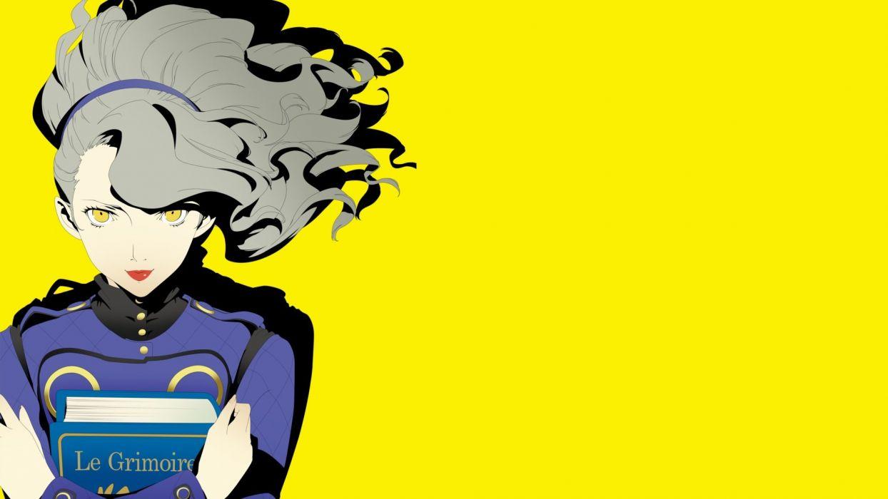 margaret persona persona 4 yellow eyes wallpaper