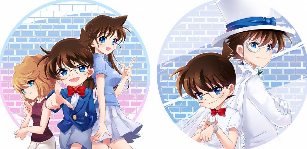 Meitantei Conan Magic Kaito Edogawa Conan Haibara Ai Kaitou Kid wallpaper