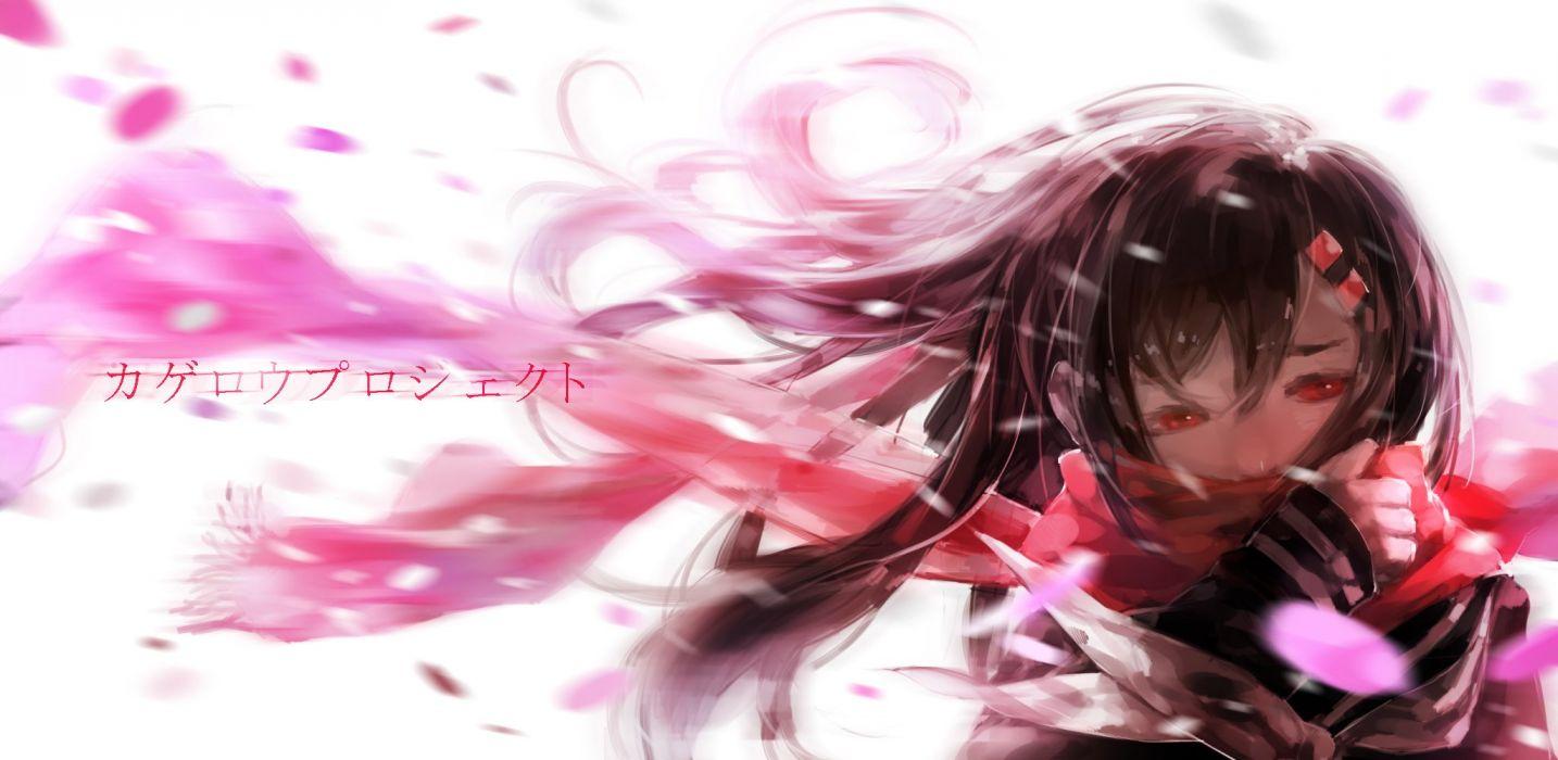 Pixiv Id 5129841 Kagerou Project Tateyama Ayano Realistic Red Neckwear Holding Clothes wallpaper