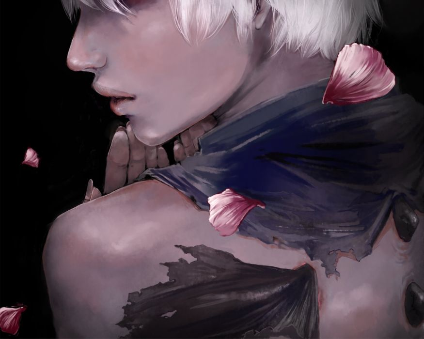 Vocaloid Fan Character Black Background Realistic wallpaper