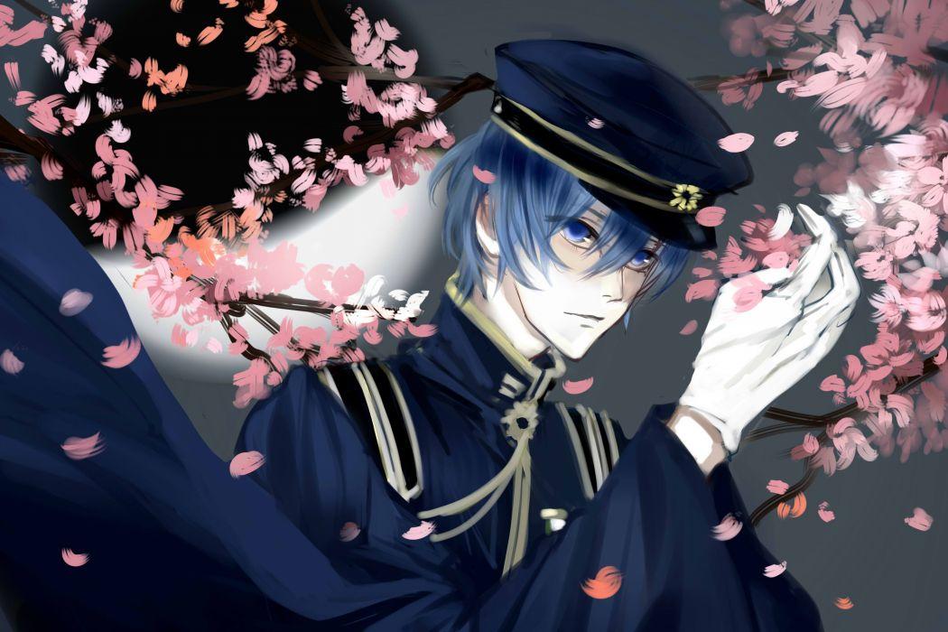 Vocaloid KAITO Cherry Blossom wallpaper