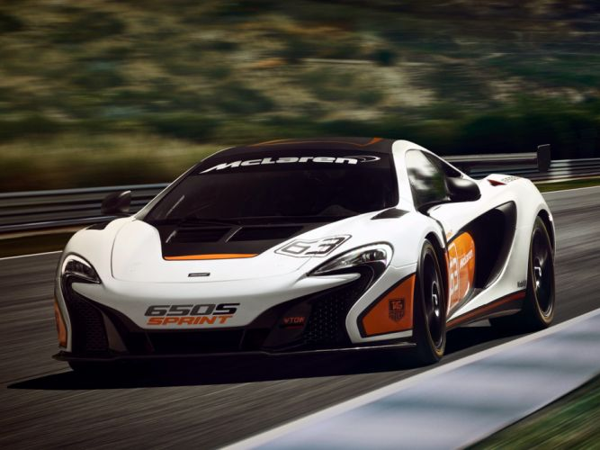 2014 McLaren 650S Sprint supercar race racing wallpaper