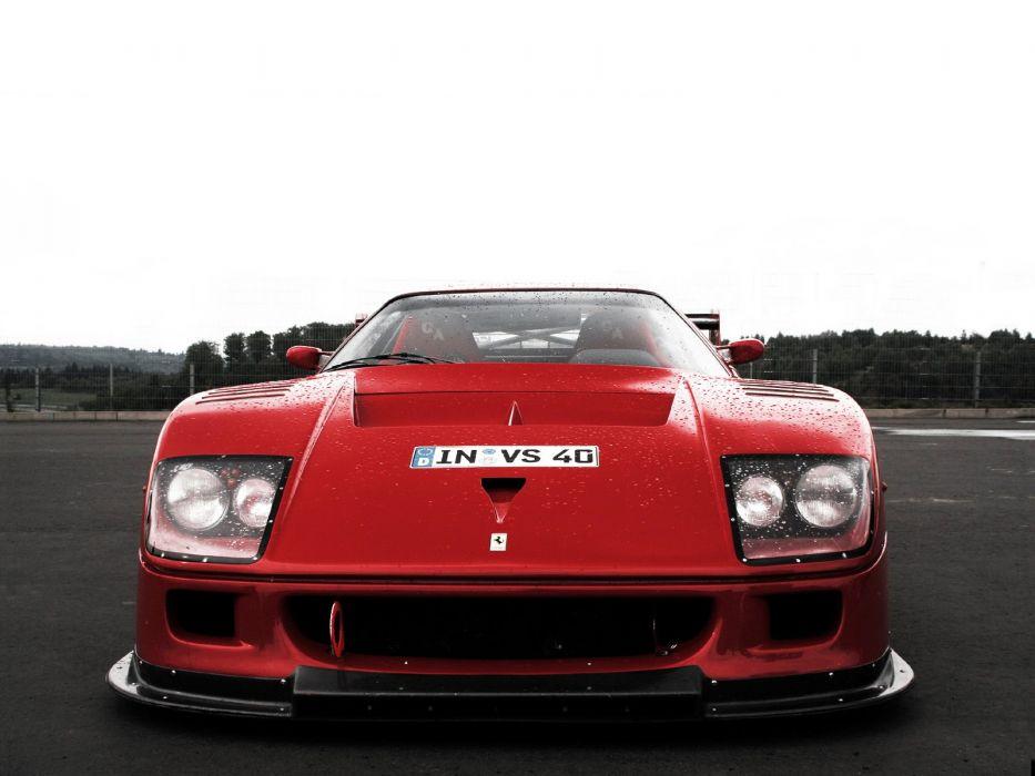 1988 Ferrari F40 L,M Michelotto supercar race racing
