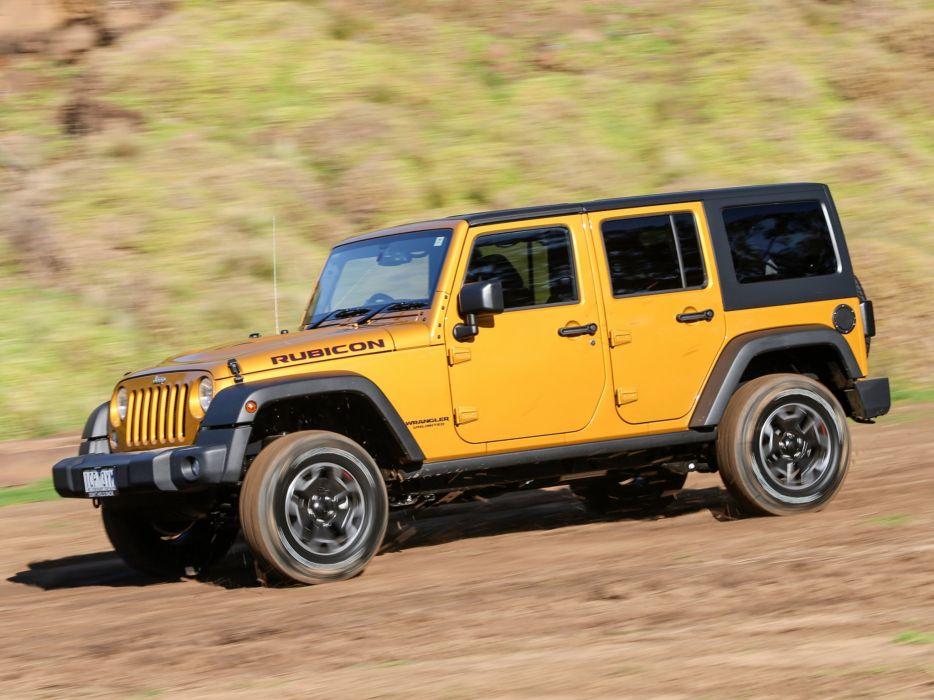 2015 Jeep Wrangler Unlimited Rubicon X AU-spec (J-K) 4x4 suv wallpaper
