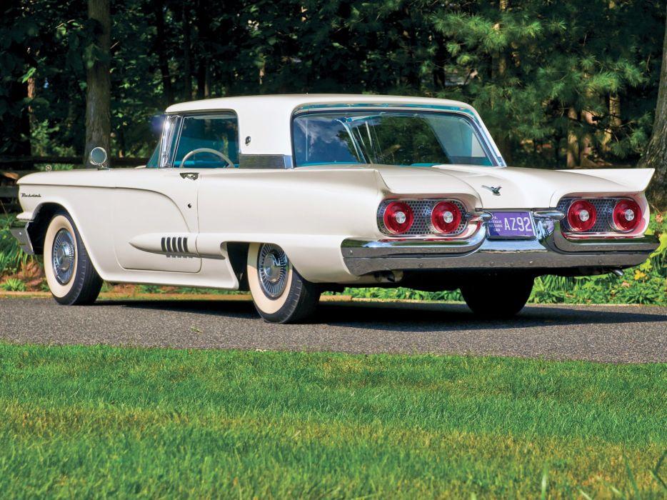 1958 Ford Thunderbird Hardtop Coupe (63A) luxury retro wallpaper
