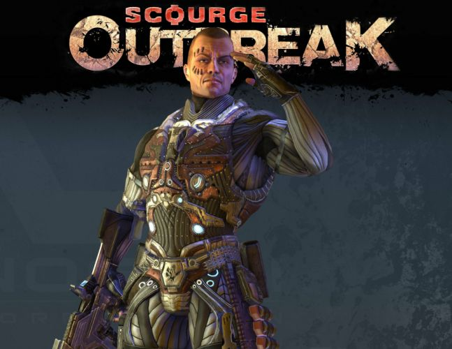 SCOURGE OUTBREAK shooter action fighting sci-fi steampunk wallpaper