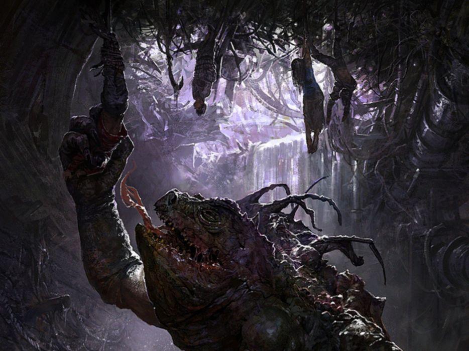 horror monster creature wallpaper