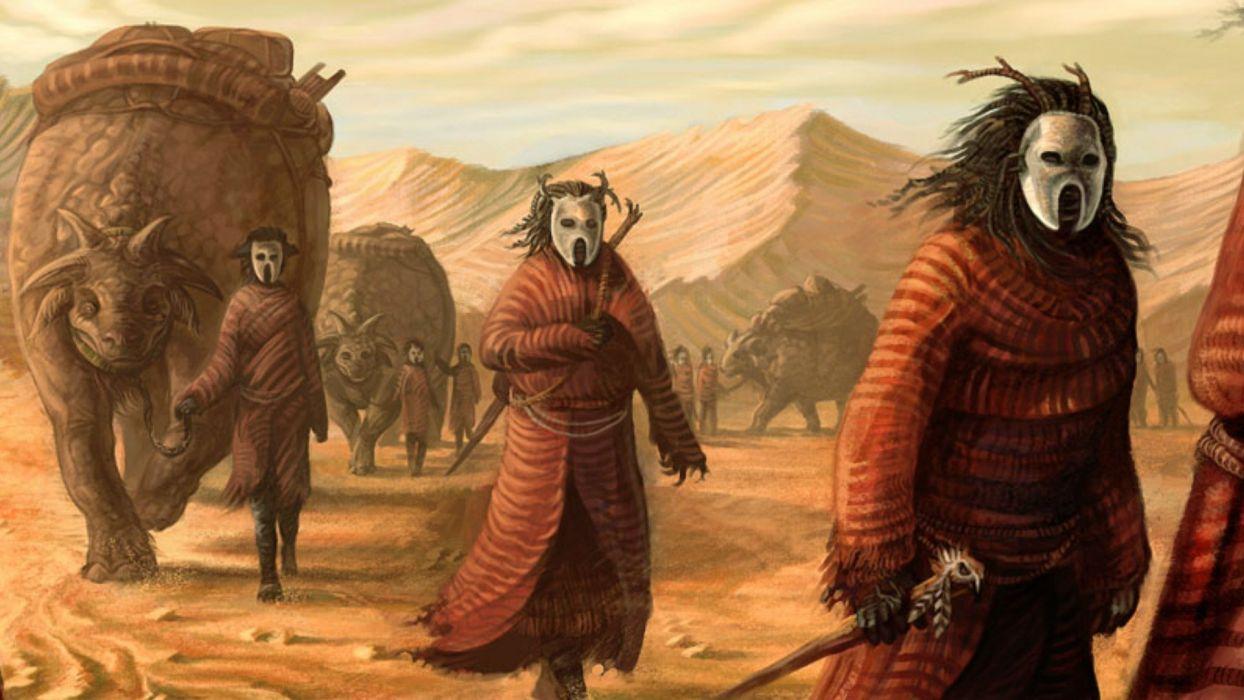 fantasy environment concept art evil horror creature adventure wallpaper