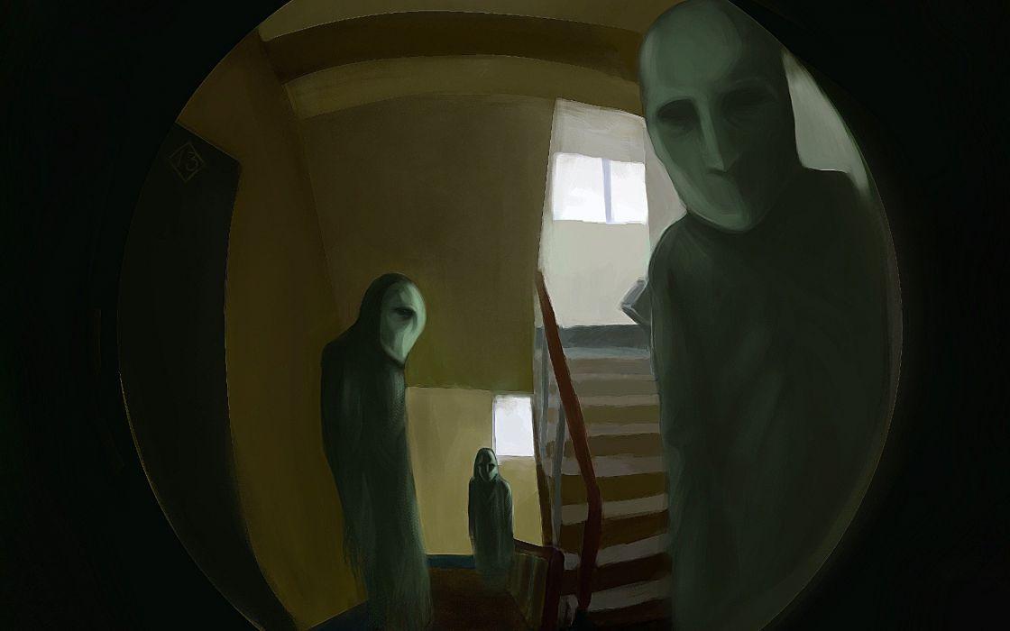 illustration horror mystic fantasy dark psychedelic wallpaper