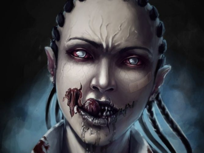 caricature zombie horror wallpaper