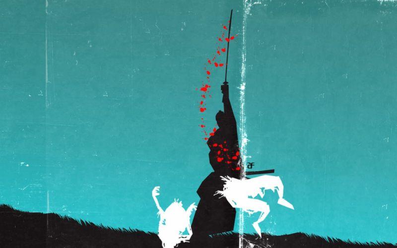 horror zombie samurai japanese fantasy wallpaper