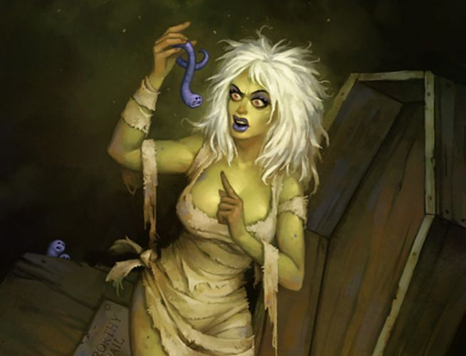 horror girl zombie worms fantasy wallpaper