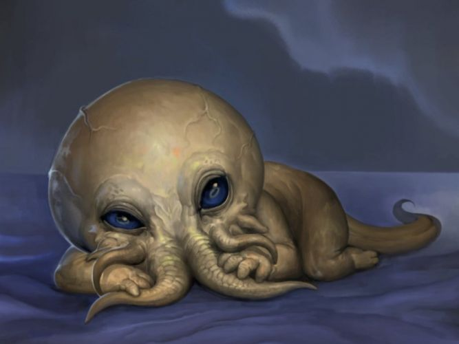 horror cthulhu baby fantasy monster dark wallpaper