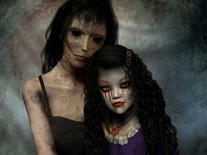 horror blood child gothic mother wallpaper