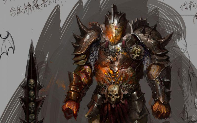 fantasy demon warrior wallpaper