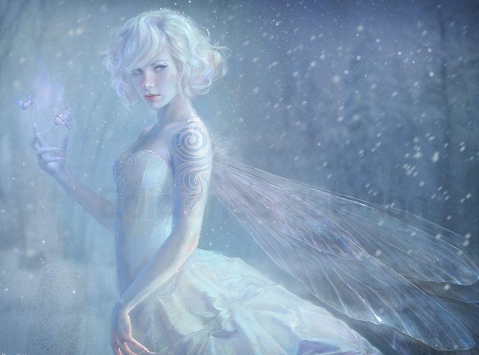 fantasy white fairy wallpaper