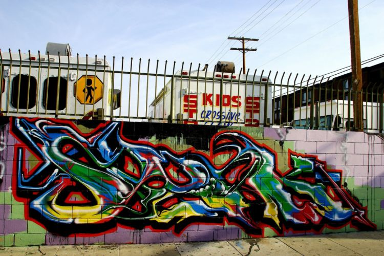 Los Angeles California Pacific buildings cities Graffiti colors graff wall art street illegal city wallpaper