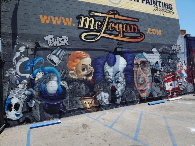 Los Angeles California Pacific buildings cities Graffiti colors graff wall art street illegal city wallpaper