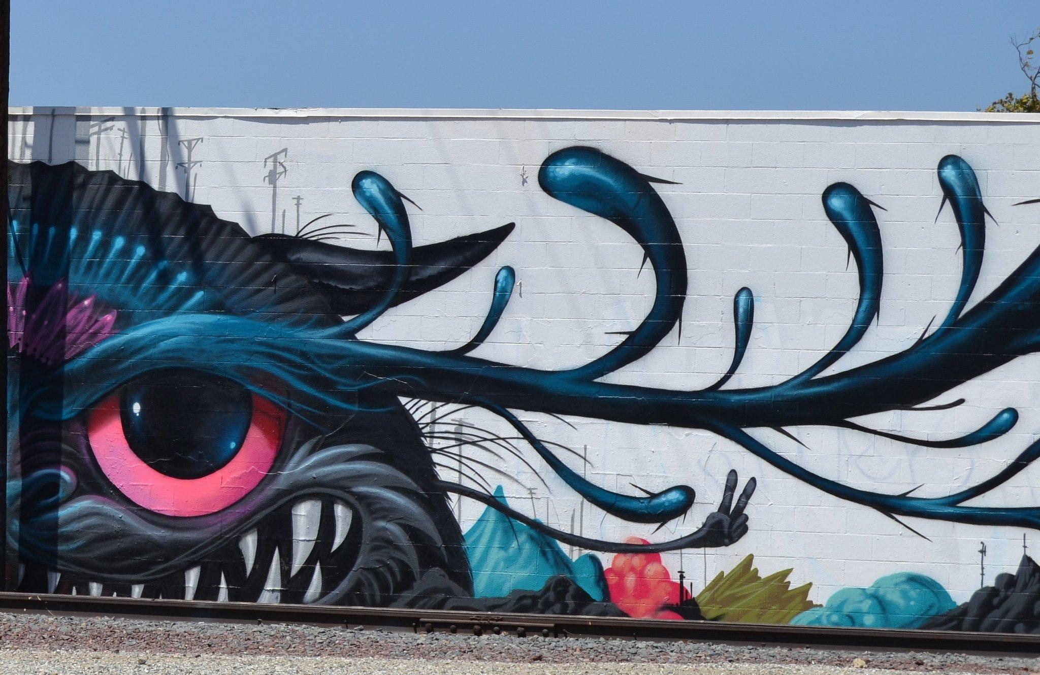 los angeles california pacific buildings cities graffiti colors