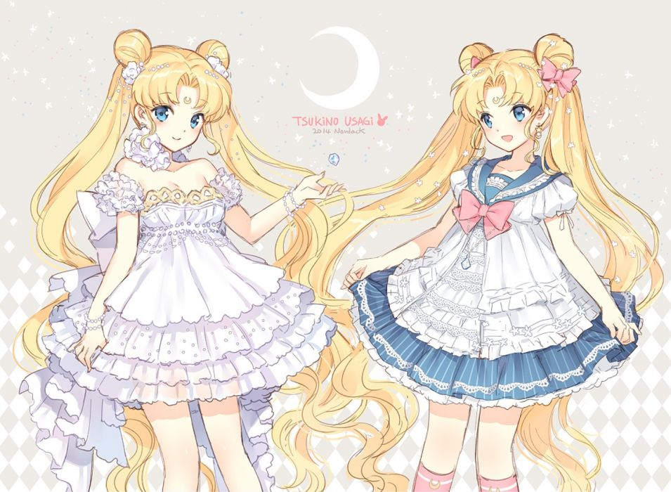 kawai pretty serenity usagi sailor moon girls wallpaper