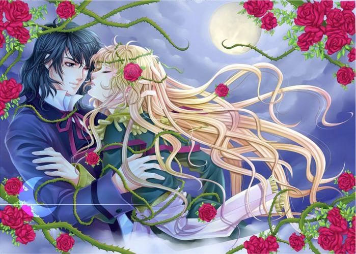 rose oscar andre love romantic anime wallpaper