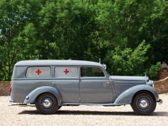 1952 Mercedes Benz 170 S-V LUEG Sanita-tskrankenwagen (W136) emergency ambulance stationwagon retro wallpaper