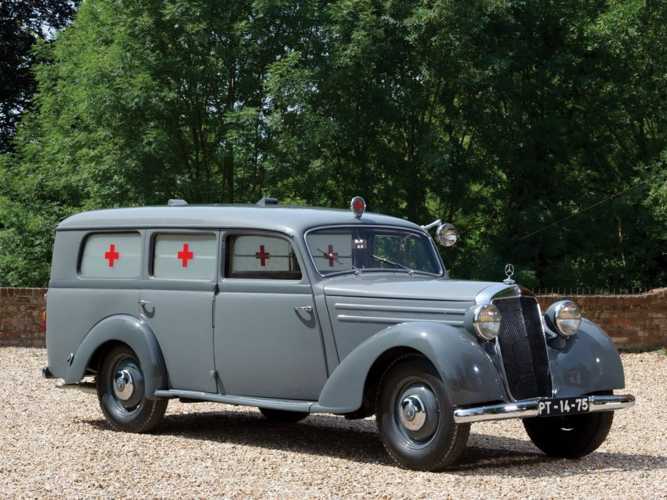 1952 Mercedes Benz 170 S-V LUEG Sanita-tskrankenwagen (W136) emergency ambulance stationwagon retro wallpaper