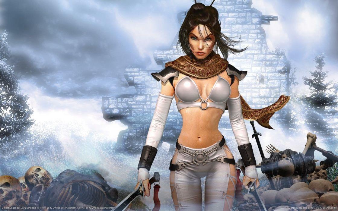 WORROR - Woman sword sexy wallpaper