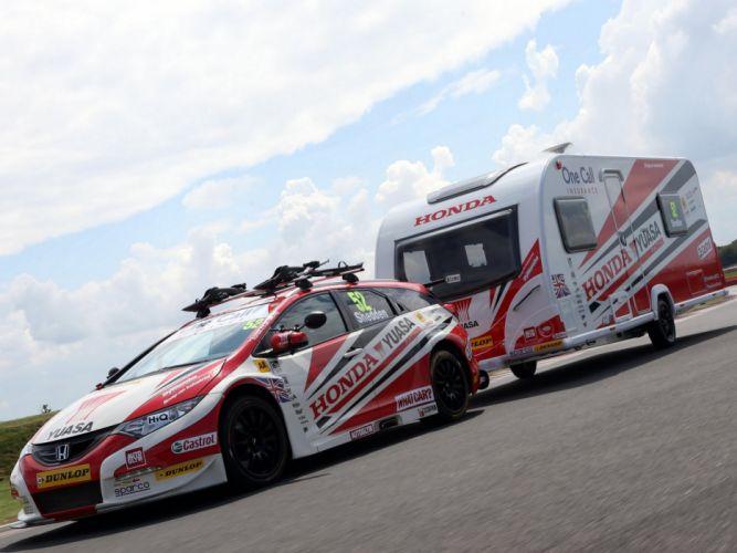 2014 Honda Civic Tourer BTCC race racing wallpaper
