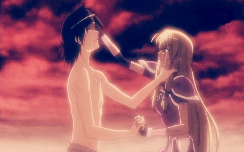 sad tears girl boy armor red war battlefield legend hero legendary anime wallpaper