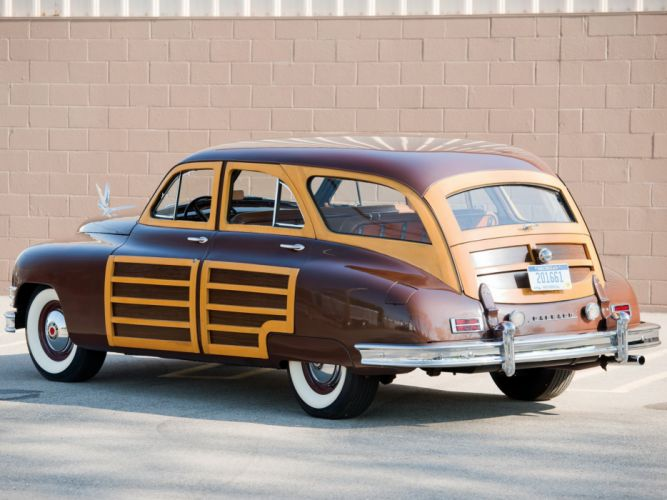 1948 Packard Eight Station Sedan (2293) stationwagon retro luxury wallpaper