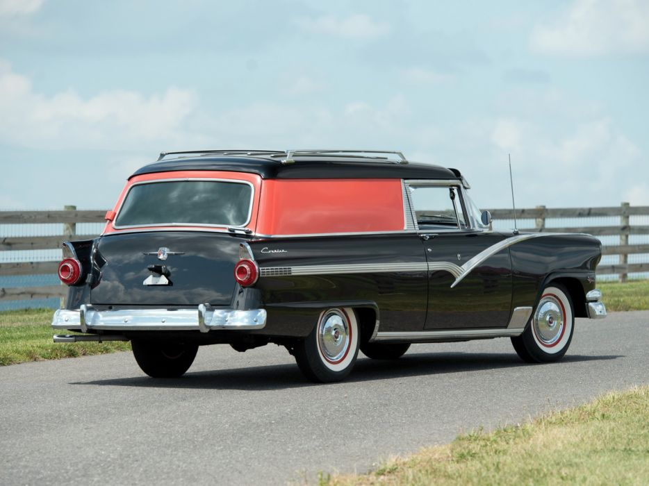 1956 Ford Courier Sedan Delivery stationwagon retro wallpaper