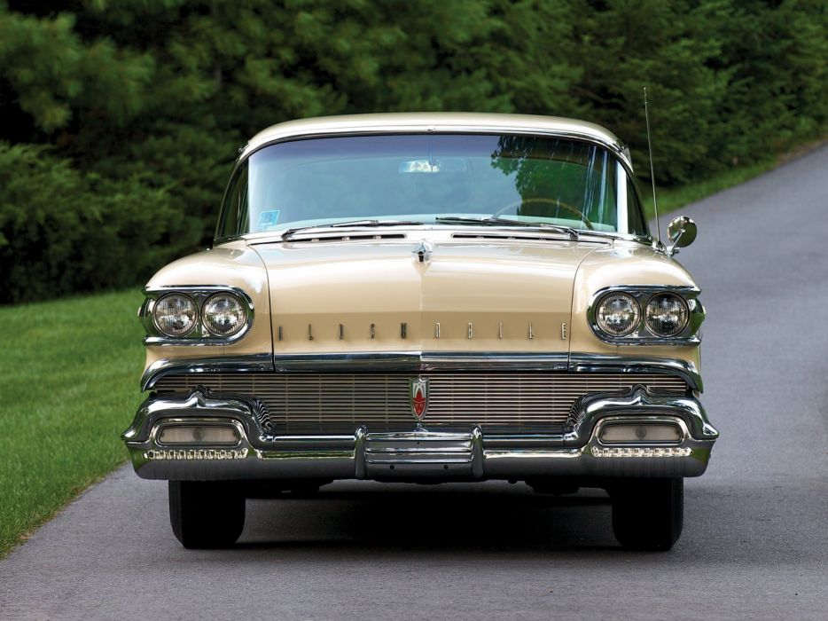 1958 Oldsmobile Super 8-8 Holiday Sedan (3639SD) luxury retro wallpaper
