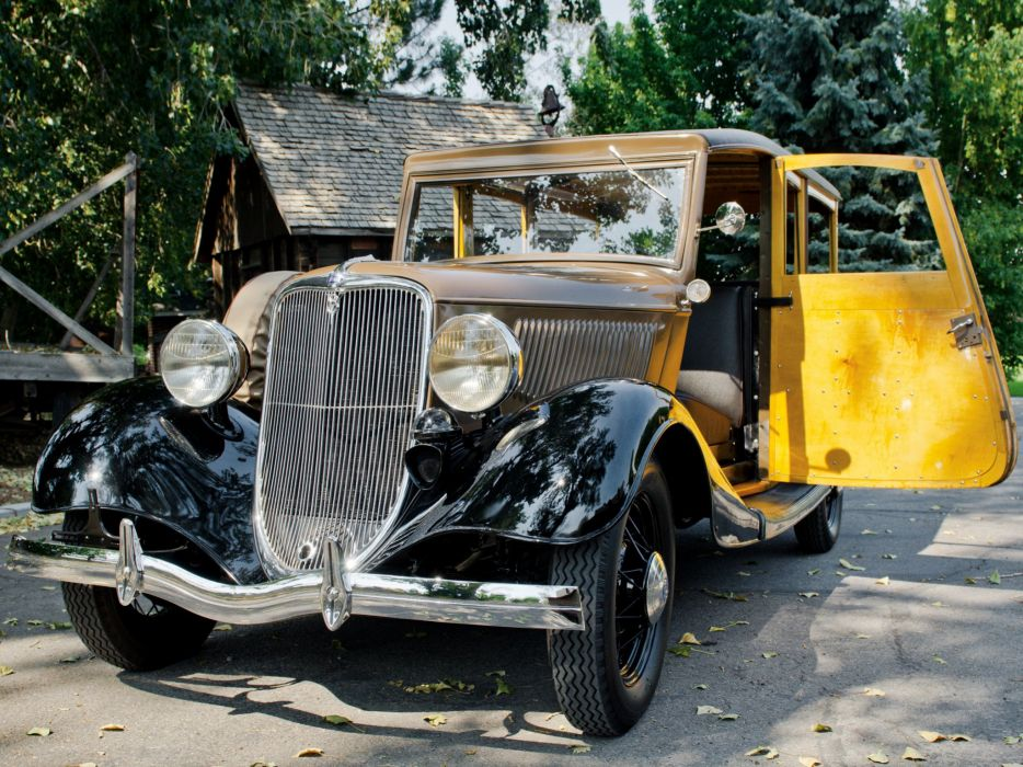 1933 Ford V-8 StationWagon (40-860) retro woody wallpaper