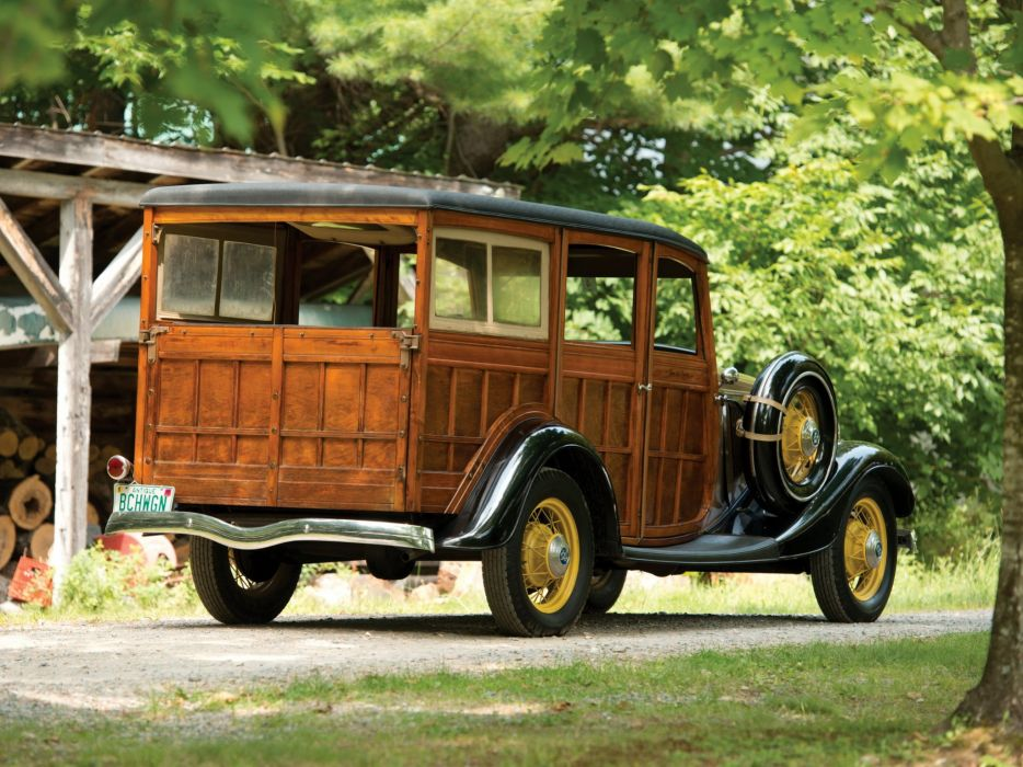1933 Ford V-8 StationWagon (40-860) retro woody wallpaper