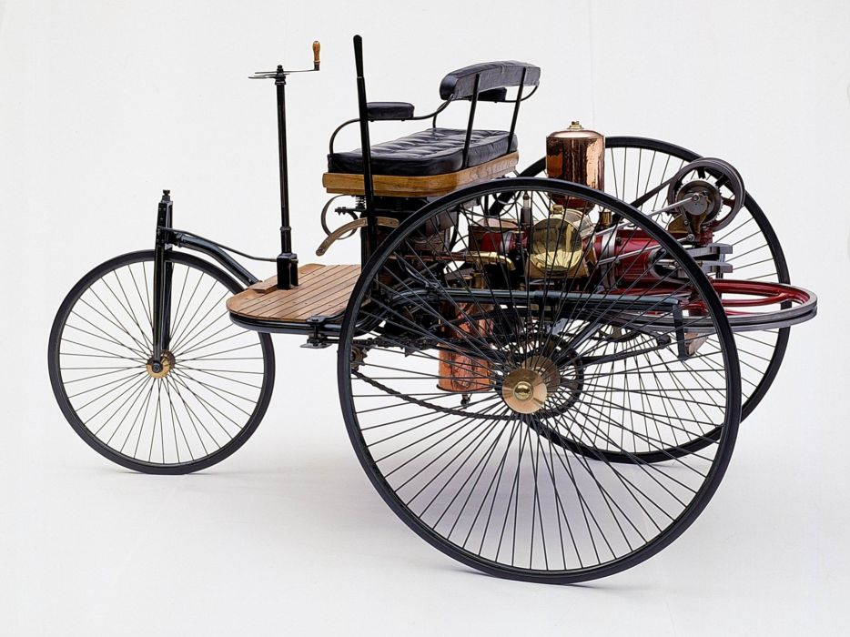 1885 Benz Patent Motorwagen (Typ-I) retro wallpaper