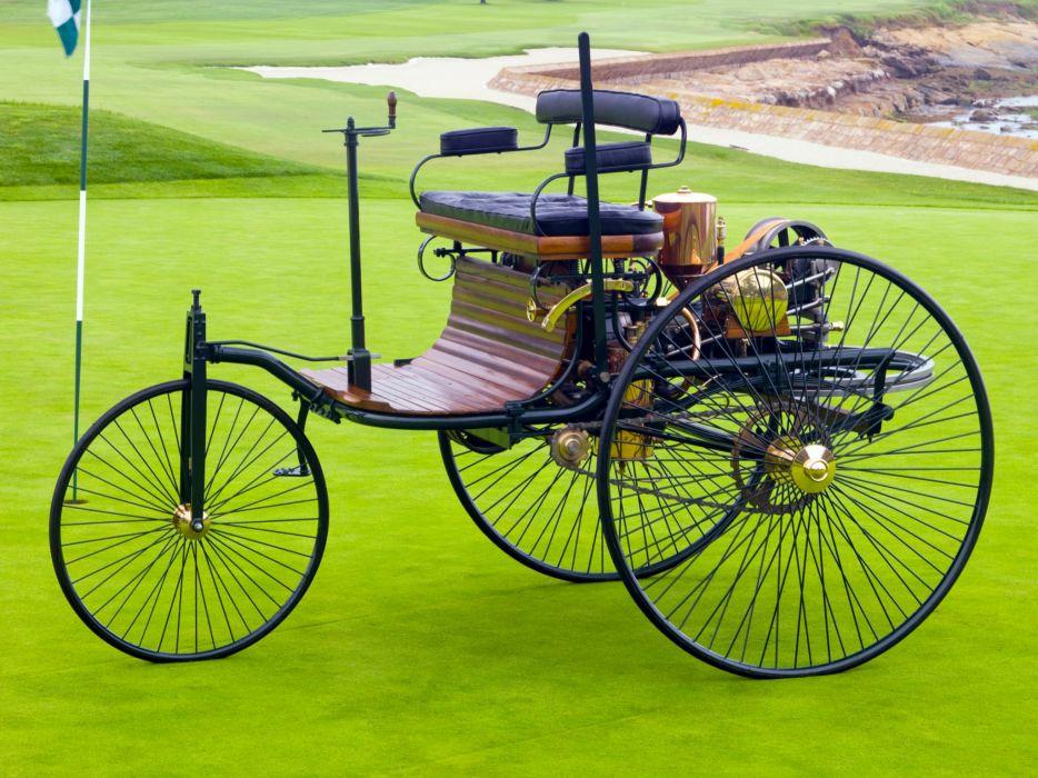 1885 Benz Patent Motorwagen (Typ-I) retro wallpaper