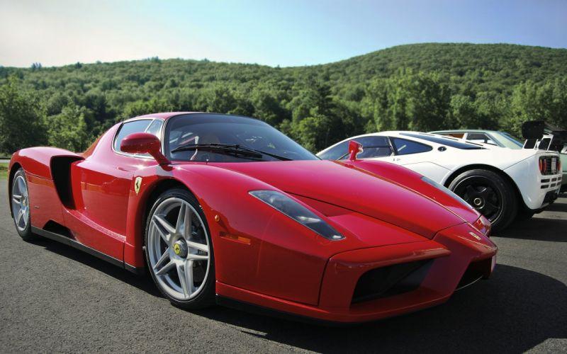 Ferrari Enzo & Mclaren F1 wallpaper