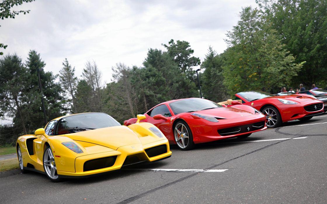 Ferrari Enzo 458 Italia & California wallpaper