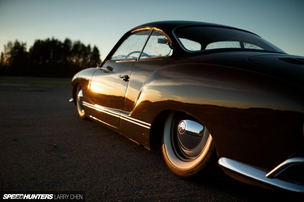 1962 Karmann Ghia Volkswagen V-W lowrider tuning socal classic wallpaper